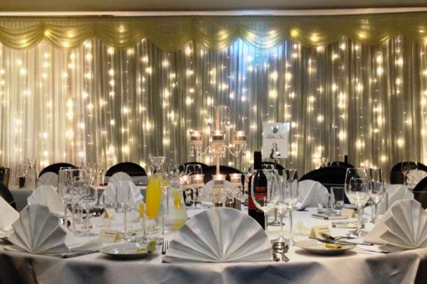 Picture of table laid for party night